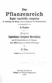Euphorbiaceae-Acalypheae-Mercurialinae, mit 317 Einzelbildern in 67 Figuren, unter Mitwirkung von Käthe Hoffmann