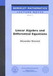 Linear Algebra And Differential Equations PDF