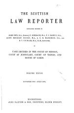 The Scottish Law Reporter PDF
