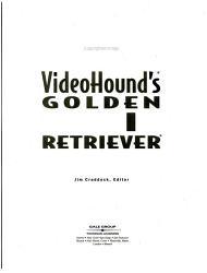 Videohound S Golden Movie Retriever Book PDF