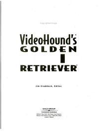 VideoHound s Golden Movie Retriever PDF