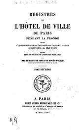 Registres de l'Hôtel de ville de Paris pendant la Fronde: suivis d'une relation de ce qui s'est passé dans la ville et l'abbaye de Saint-Denis à la même époque, Numéro49