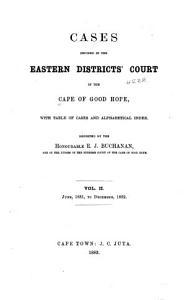 Cape Colony Law Reports Book