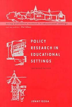 Policy Research In Educational Settings PDF
