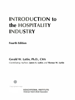 Introduction to the Hospitality Industry PDF