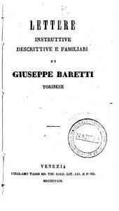 Lettere instruttive descrittive e familiari di Giuseppe Baretti torinese