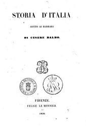 Storia d'Italia sotto ai barbari di Cesare Balbo