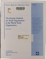 The Present Outlook for Trade Negotiations in the World Trade Organization PDF