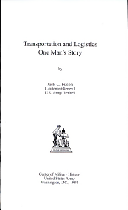Transportation and Logistics PDF