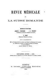 Revue médicale de la Suisse romande: Volume2