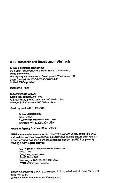 A I D  Research and Development Abstracts PDF