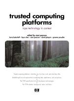 Trusted Computing Platforms