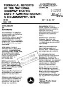 Technical Reports of the National Highway Traffic Safety Administration  a Bibliography  1978 PDF