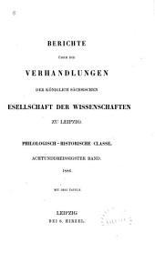 Sitzungsberichte der Sächsischen Akademie der Wissenschaften zu Leipzig. Philologisch-historische Klasse: Bände 38-40