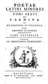 Poetae latini minores ...