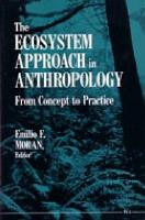 The Ecosystem Approach in Anthropology PDF