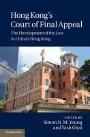 Hong Kong s Court of Final Appeal PDF