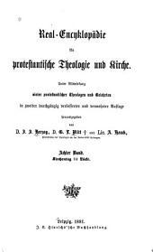 Real-encyklopädie für protestantische theologie und kirche: Band 8