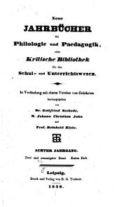 Neue Jahrbücher für Philologie und Paedagogik: Band 22