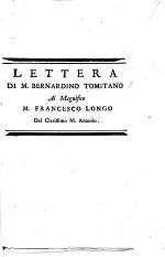 Lettera [dated, August 30, 1550] ... al Magnifico M. F. Longo del Clarissimo M. Antonio. [Edited by E. A. Coleti.]