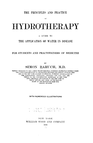 The Principles and Practice of Hydrotherapy