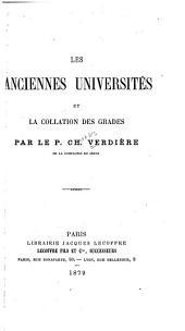 Les anciennes universités et la collation des grades