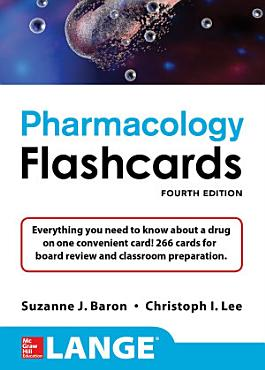 Lange Pharmacology Flashcards  Fourth Edition PDF