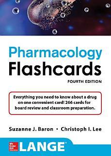 Lange Pharmacology Flashcards  Fourth Edition Book