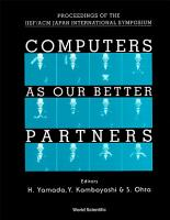 Computers As Our Better Partners   Proceedings Of The Iisf acm Japan International Symposium PDF