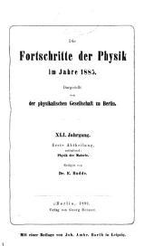 Die Fortschritte der Physik