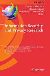 Information Security and Privacy Research: 27th IFIP TC 11 Information Security and Privacy Conference, SEC 2012, Heraklion, Crete, Greece, June 4-6, 2012, Proceedings
