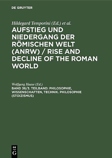 Philosophie  Wissenschaften  Technik  Philosophie  Stoizismus  PDF