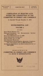 Compilation of Selected Acts Within the Jurisdiction of the Committee on Commerce