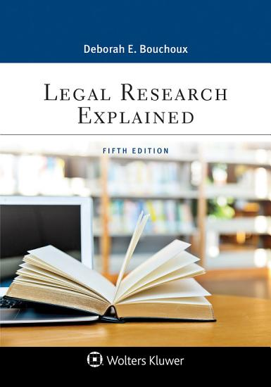 Legal Research Explained PDF