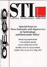 STI Review  Volume 1998 Issue 1 Special Issue on New Rationale and Approaches in Technology and Innovation Policy PDF