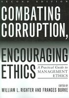 Combating Corruption  Encouraging Ethics PDF