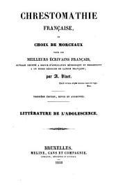 Chrestomathie française, ou choix de morceaux tirés des meilleurs écrivains français: Volume2