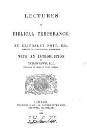 Lectures on Biblical Temperance