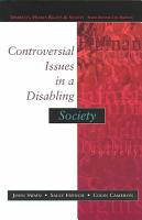 Controversial Issues In A Disabling Society PDF