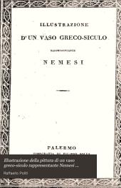 Illustrazione della pittura di un vaso greco-siculo rappresentante Nemesi trovato nell'antica Agrigento nell'aprile del MDCCCXXV ed acquistato da S. E. il marchese delle Favare ...