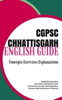 English Guide Book CGPSC CHHATTISGARH PUBLIC SERVICE COMMISSION PDF