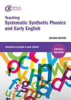 Teaching Systematic Synthetic Phonics and Early English PDF