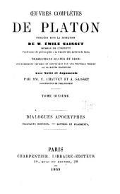 Œuvres complétes de Platon, pub. sous la direction de m. Émile Saisset ...