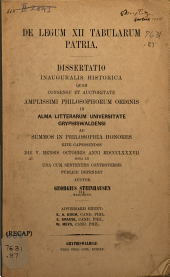 De legum XII tabularum patria