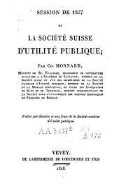 Session de 1827 de la Société d'utilité publique