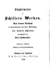 Supplemente zu Schillers Werken: Band 2