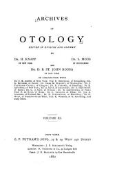 Archives of Otology: Volume 11
