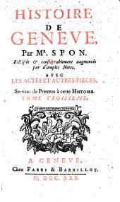 Histoire de Genève: Volume3