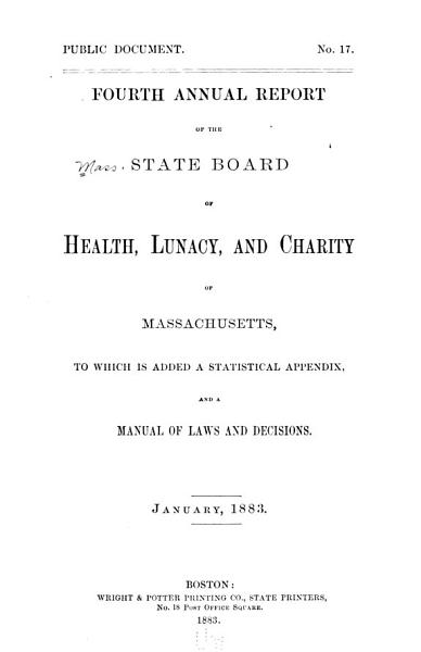 Download Annual Report of the State Board of Health  Lunacy  and Charity of Massachusetts Book