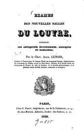 Examen des nouvelles salles du Louvre, contenant les antiquités égyptiennes, grecques et romaines